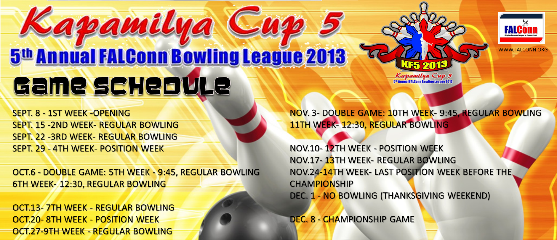 bowling2013-schedule