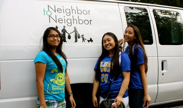 Volunteering at Neighbor to Neighbor, Greenwich CT